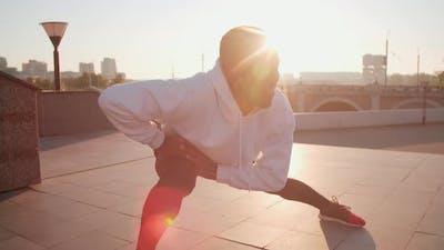 Black Man At Morning Workout