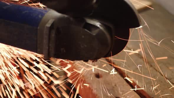 Cutting Metal In A Workshop