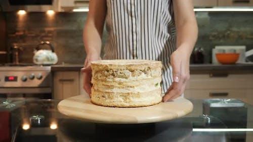 Ein Vanillekuchen