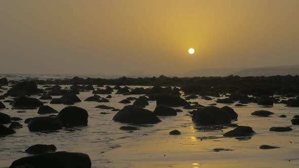 Thumbnail for Coast with Rocks at Sunset