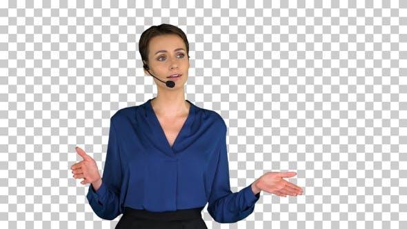 Thumbnail for Mature beautiful Asian businesswoman working as call center