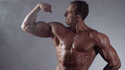 Athletic Bodybuilder Posing