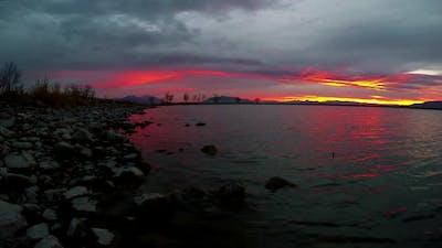 Video at Utah Lake during sunset.