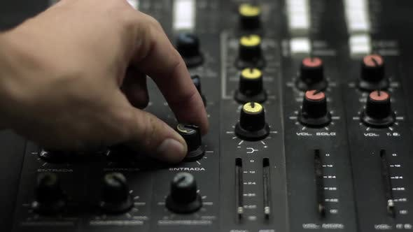 Thumbnail for Sound Control Panel or Mixing Console.