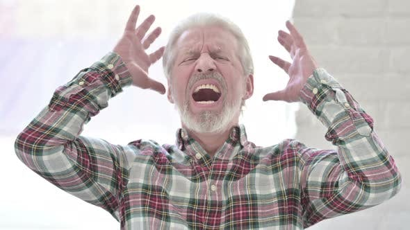 Thumbnail for Screaming Casual Old Man in Anger