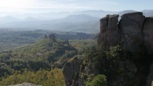 Slow tilt on  rocks near Bulgarian town of Belogradchik  4K 2160p 30fps UltraHD footage - Natural st