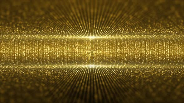 Thumbnail for Virtual Gold Particles Stage Lights Background 02