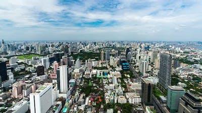 time lapse of Bangkok cityscape, Thailand