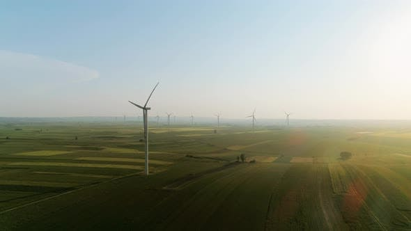 Thumbnail for Video shows of wind turbines