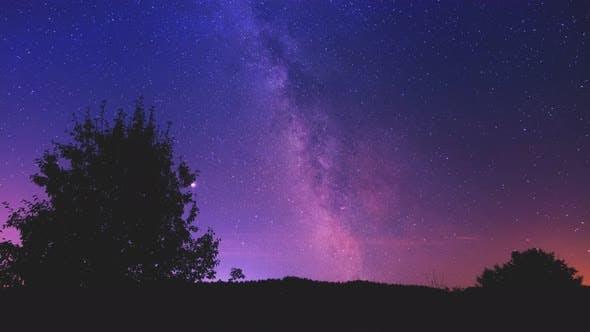 Thumbnail for Night Starry Sky Illuminated By the Milky Way