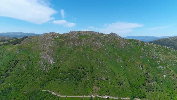 Aerial Drone View of the Green Hills