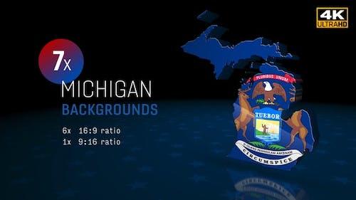 Arrière-plans des élections de l'État du Michigan 4K - Pack de 7