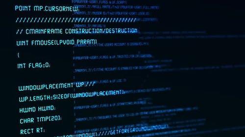 Scrolling Code Screen
