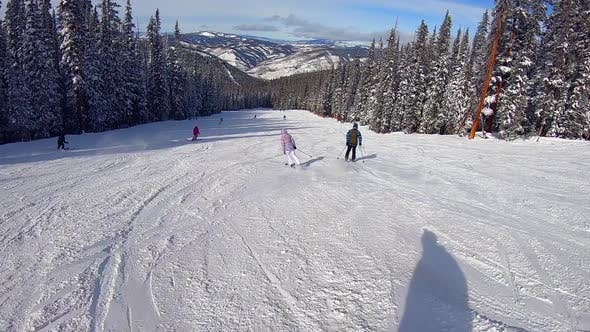 Cover Image for First Person View Downhill Skiing in Colorado in Fine Weather