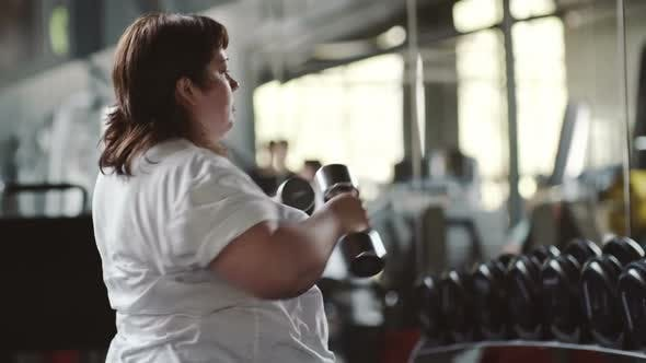 Thumbnail for Fat Woman Boxing with Dumbbells