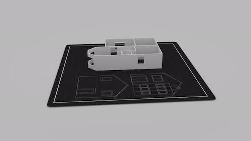 Architecture Plan of Residental House Sketch Draft Developing