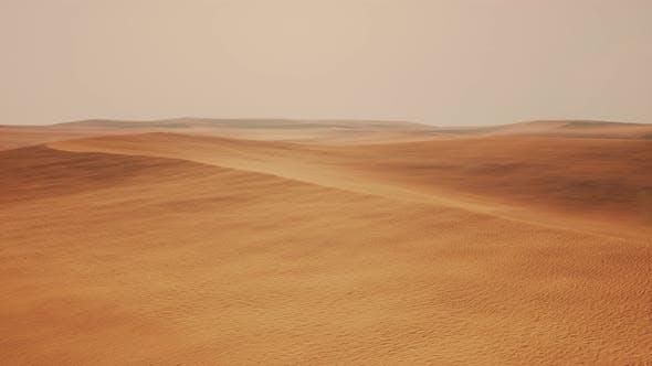 Aerial of Red Sand Dunes in the Namib Desert