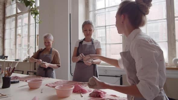 Women at Ceramic Lesson