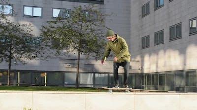 Stunts on skateboard