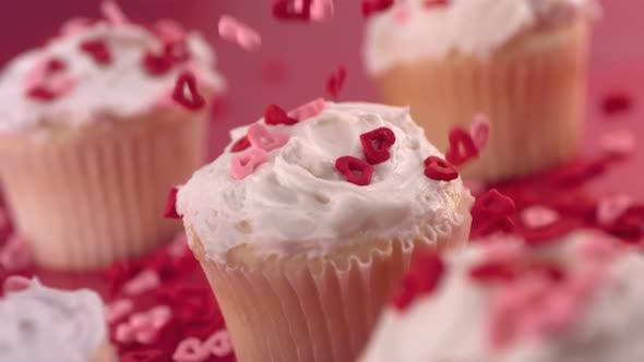 Thumbnail for Valentine's Day cupcakes,  slow motion