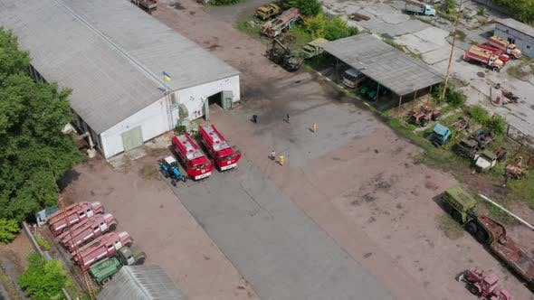 Thumbnail for Aerial Shot of Car Park in Chernobyl Zone