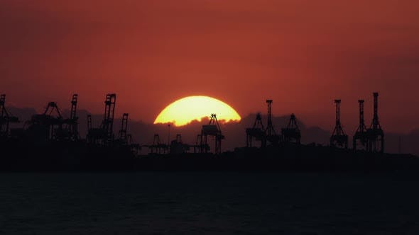 Thumbnail for Container Port Sunrise