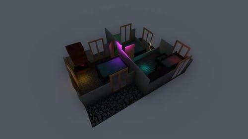 Isometric bedroom