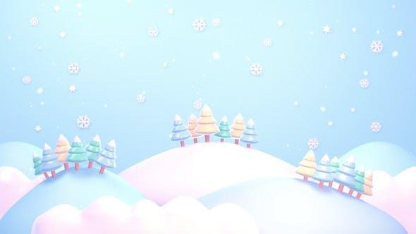 Blue Christmas Mountains