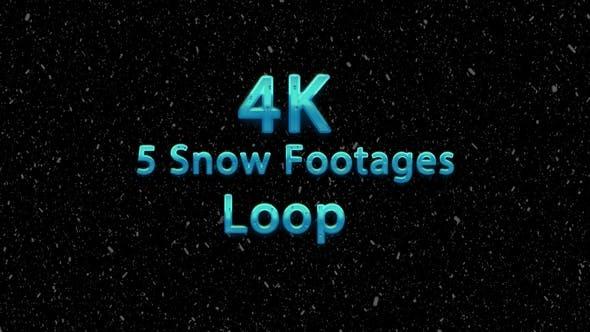Snow Pack - 5 loop snow footages