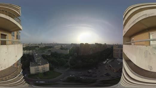 Thumbnail for 360 VR Aerial Panorama von Moskau bei Sonnenuntergang, Russland