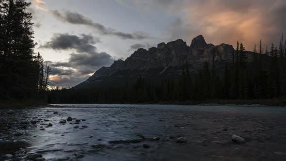 Thumbnail for Castle Mountain Sunset Timelapse