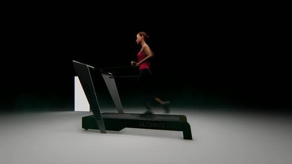 Thumbnail for Athlete Woman Running on the Treadmill