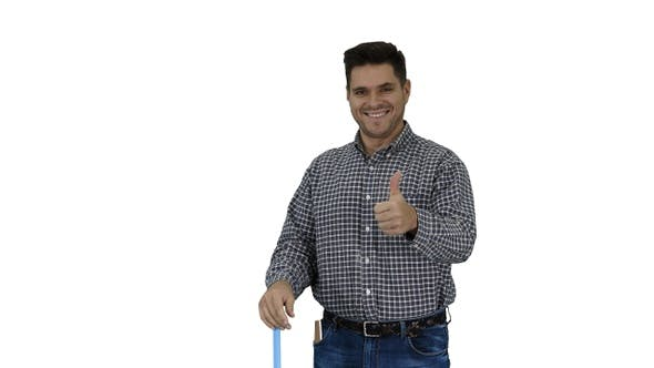Thumbnail for Floor care and cleaning services Casual man cleaning the