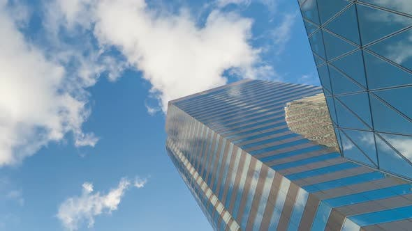 Thumbnail for Business Buildings Reflection Of Clouds