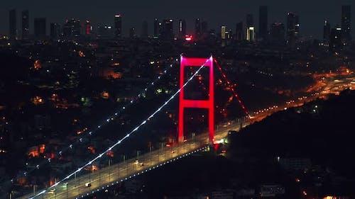 Istanbul Famous Bridge in Turkey