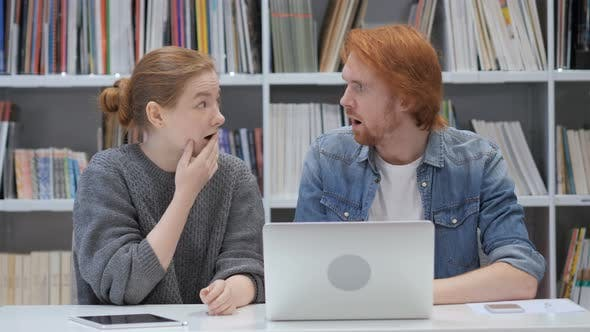 Thumbnail for Wondering Man and Woman in Shock at Work In Office