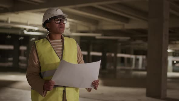 Professional Contractor with Paper