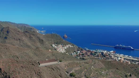 Thumbnail for Aerial View. the City of Santa Cruz De Tenerife. The Capital of the Canary Islands in Spain