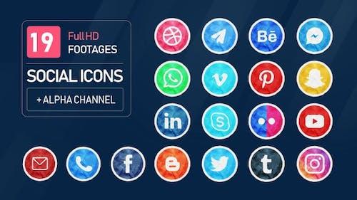 Pack d'Icones sociales papier