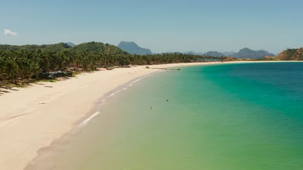 Thumbnail for Tropical Beach with White Sand, View From Above.