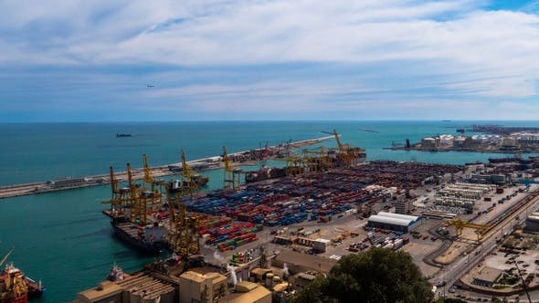 Thumbnail for Industrial Port for freight transport and global business