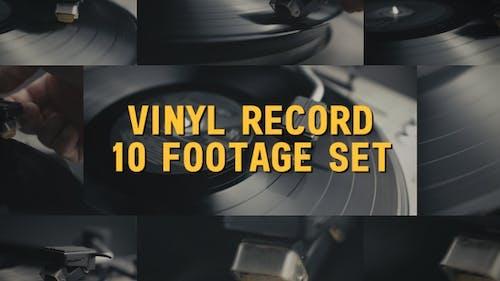 Vinyl Record Player Set