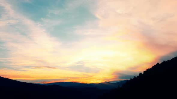 Thumbnail for sunset in the mountains time lapse