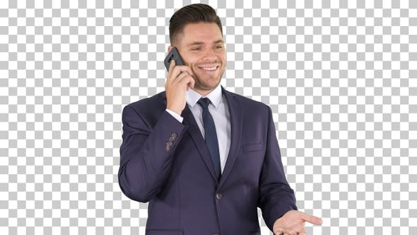 Business technology and people concept - smiling businessman