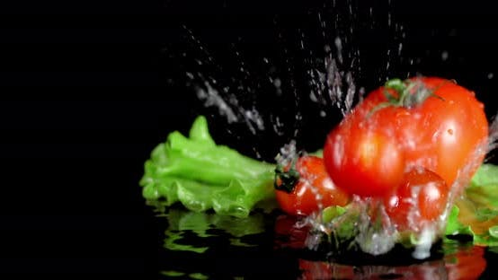 Thumbnail for Cherry Tomatoes Fall on the Table