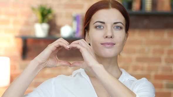 Thumbnail for Handmade Heart Sign,  Woman Portrait