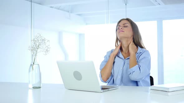 Cover Image for Relax Tired Woman Working On Laptop, Online