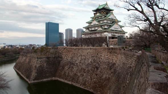 Thumbnail for Osaka Samurai Castle Defence Fort Japan Timelapse