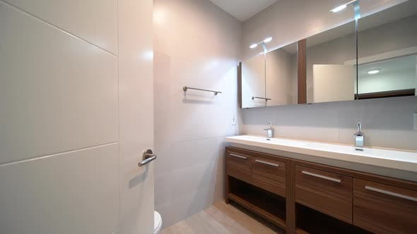 Empty New Bathroom In Residential Home