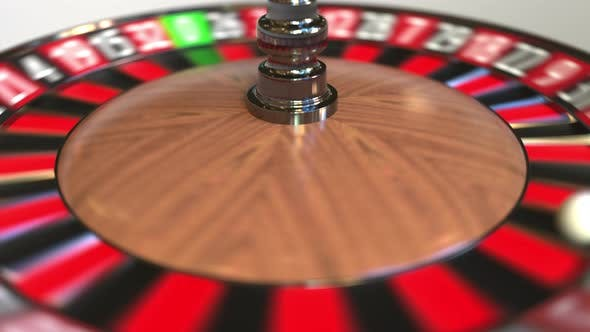 Thumbnail for Casino Roulette Wheel Ball Hits 16 Sixteen Red